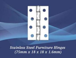 Furniture Hinges (75mm x 15 x 10 x 1.6mm)