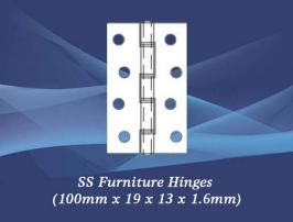 SS Furniture Hinges (100mm x 19 x 13 x 1.6mm)