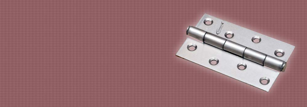 Stainless Steel 4x12 Heavy Door Hinges (100mm x 2.5mm)